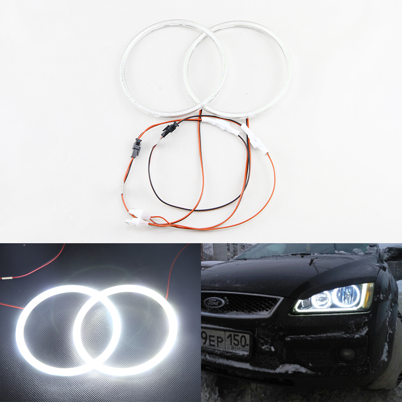 Auto Car Halo Rings White Angel Eyes Kit 60 66 72 75 80 85 90 94 <font><b>100</b></font> 105 <font><b>110</b></font> 115 120 125 140 145mm OD Led Halo Ring Light image