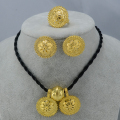 NEW Ethiopian Wedding Sets Jewelry Silver/Gold Plated Habesha Pendant Rope Earrings Ring Eritrea Bridal set Africa #001606