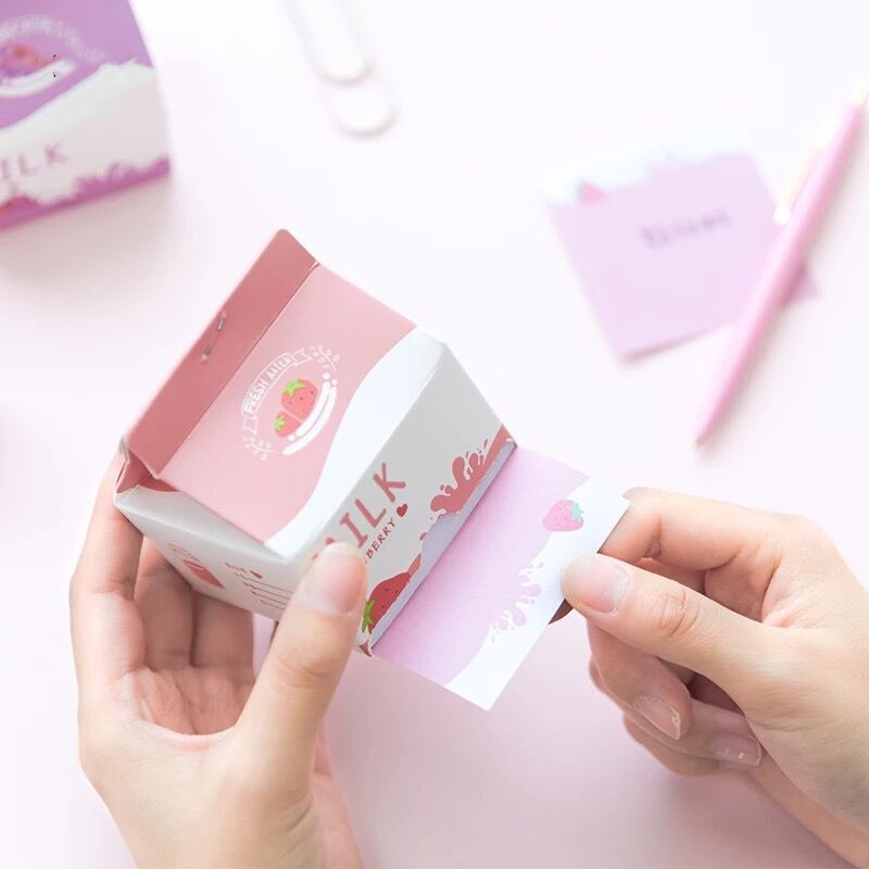 300 Sheets Creative Kawaii Korean Milk N Times Memo Note Pad Message Paper Marker Tab Notepads School Office Stationery