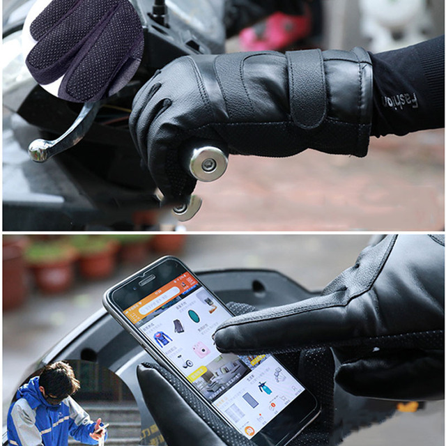 Winter Heated Gloves Warmer Electric Thermal Gloves Cycling Motorcycle Bicycle Skiing Gloves Unisex ON/OFF Switch With LED 4