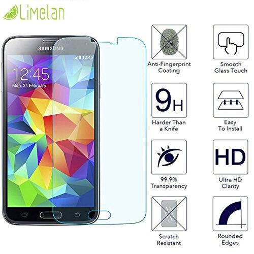 Limelan 0.3mm 2.5D 9H Glass For Samsung Glaxy S5 G900 S5mini S5 mini G800 Tempered Glass Film Screen Protector Phone Film