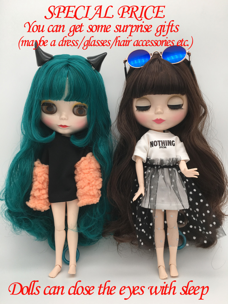 Special price BJD joint S1-8 DIY Nude Blyth doll birthday gift for girl 4 colour big eyes dolls with beautiful Hair cute toy free shipping top discount diy bjd joint nude blyth doll cheapest item no 27 30 doll limit gift special price cheap offer toy