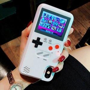 Image 2 - Чехол для телефона с цветным дисплеем и 36 классическими играми для iPhone 11 Pro X XS Max XR 6S 6 7 8 Plus, мягкий силиконовый чехол из ТПУ с консолью Game boy