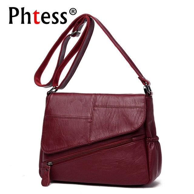 Новые женские кожаные сумки-мессенджеры Feminina Bolsa роскошные кожаные сумки женские сумки дизайнерские 2019 Sac основная Женская сумка на плечо