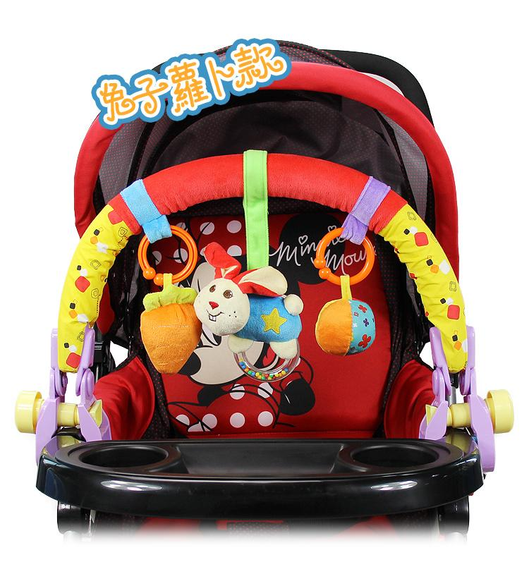 Image 3 - New Colorful Baby Stroller Clip Bed Hanging Crib Bed around baby Toys Cute Plush Toys Safe Toys Cognitive Free Shipping!-in Children Beds from Furniture