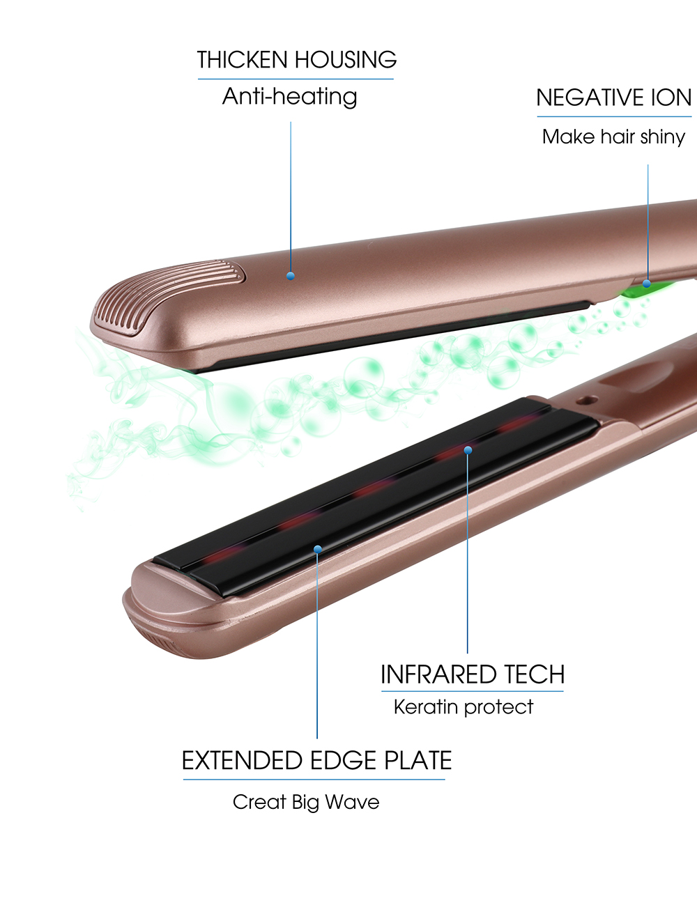 Professional Hair Straightener With Lonic Feature
