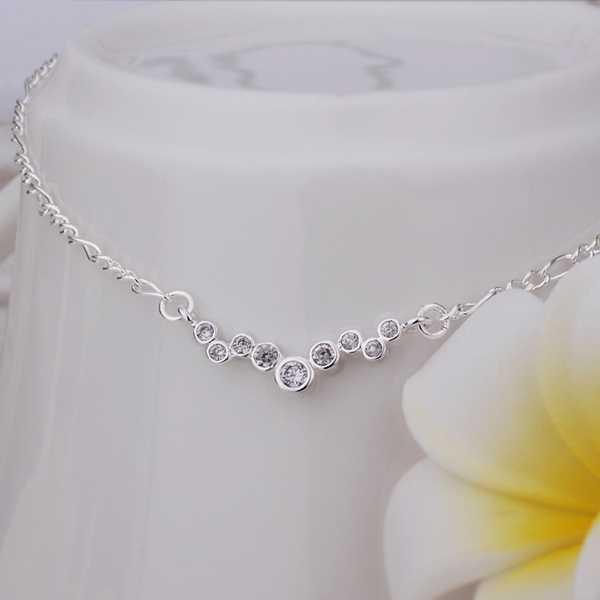 2014 new Girls Silver plated jewelry Inlay Dot sliver anklet font b bracelets b font font