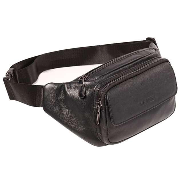 cc9ac6a5469 Men Genuine Leather Cowhide Vintage Travel Hip Bum Belt Pouch Fanny Pack  Waist Wallet Purse Sling