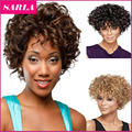 5pcs/lots Short Natural Wig Curly Wigs Synthetic For African American Black Women Curl  Fiber U Part Wig