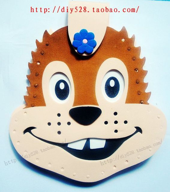 Eva diy toy squirrel sew-on cartoon bag free shipping