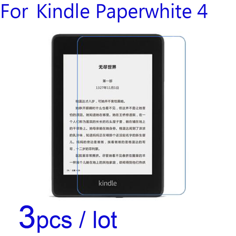 3pcs/lot Soft Clear/Matte/Nano Anti-Explosion Protective Films For Amazon Kindle Paperwhite 4 KWP4 2018 Version Screen Protector