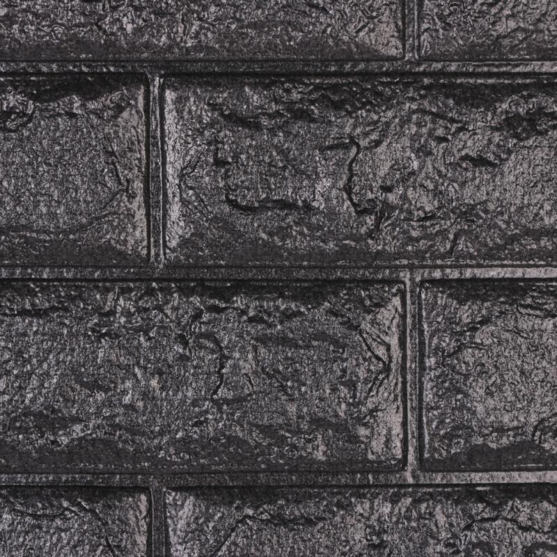 us 1 99 3d board wall brick stickers black pe foam waterproof home decor wallpaper diy living room kids bedroom decorative sticker in wall stickers
