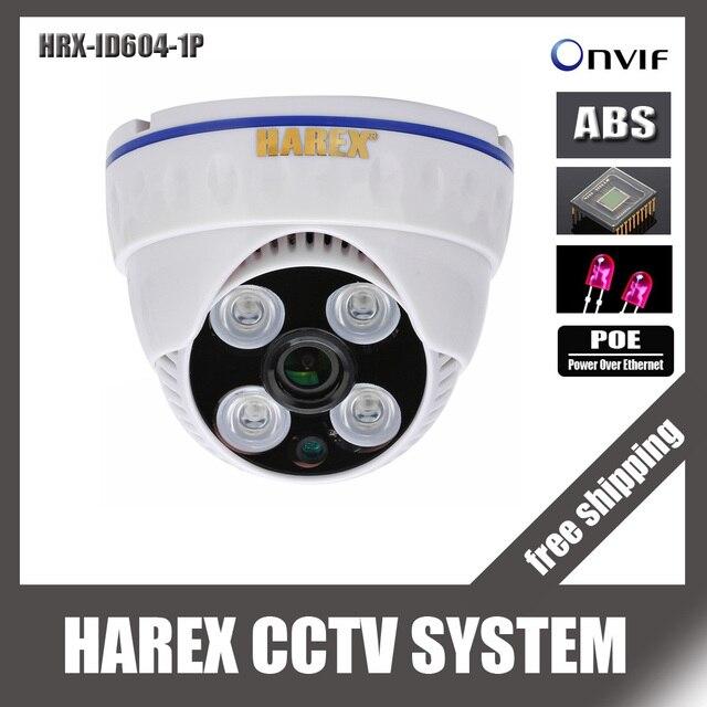 1280*720 P 1.0mp POE 4 шт. матрица светодиодов IP купольная Камера ONVIF Крытый ИК-Ночное видение plug and играй, бесплатная доставка