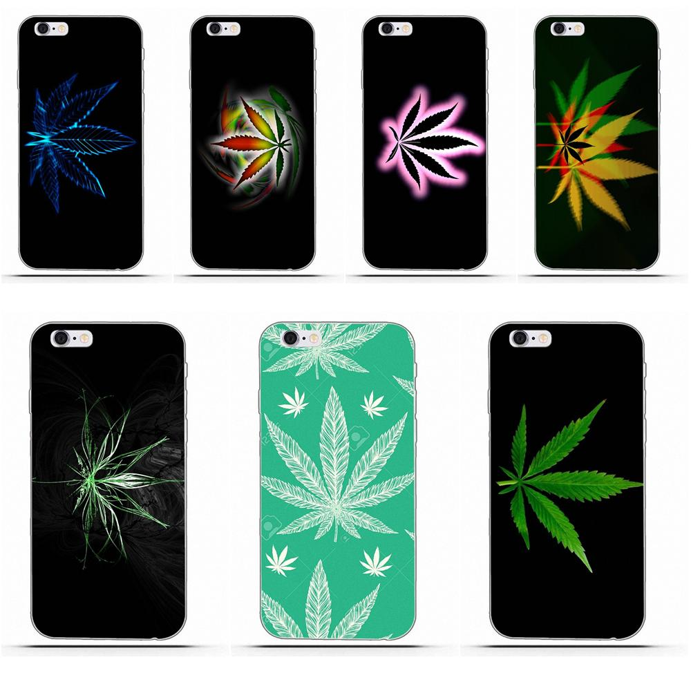 Wdlsre Soft Fashion Cell Phone Case Hemp Leaf For Galaxy Alpha Core Prime Note 4 5 8 S3 S4 S5 S6 S7 S8 S9 mini edge Plus