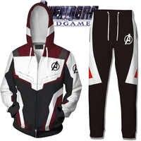 Avengers Endgame Hoodie Cosplay Jacke Sweatshirt Kostüme Quantum Reich Hosen Marvel superhero Hoodies Lange Hose anzug Kostüm