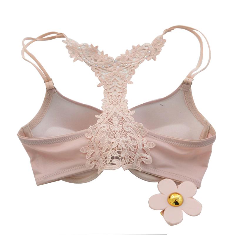 8dec0af4f Front Button Sexy Seamless Lace Bra Shoulder Strap Women Push Up ...