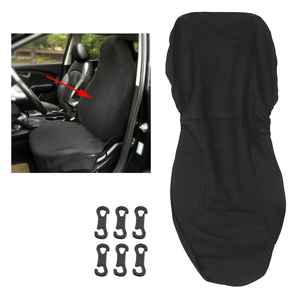 1 шт. Универсальный черный передние сиденья протектор для авто внедорожник аксессуары Four Seasons