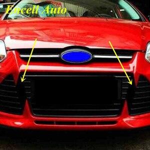Image 1 - מכירה לוהטת רכב סיבי פחמן מדבקה קדמי גריל מדבקות עבור פורד פוקוס 3 MK3 2012 2013 2014 2015 מדבקות עבור סורג אבזרים