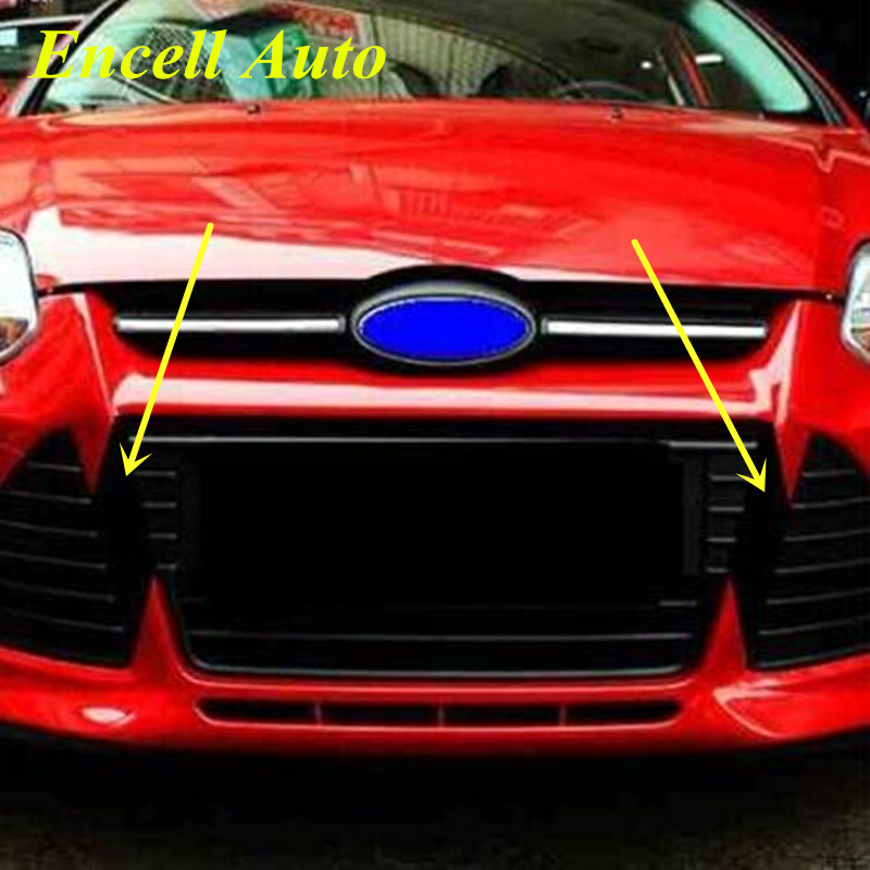 Hot Sale Car Carbon Fiber Sticker Front Grill Stickers For Ford Focus 3 MK3 2012 2013 2014 2015 Decal For Grille Accessories hot sale abs chromed front behind fog lamp cover 2pcs set car accessories for volkswagen vw tiguan 2010 2011 2012 2013