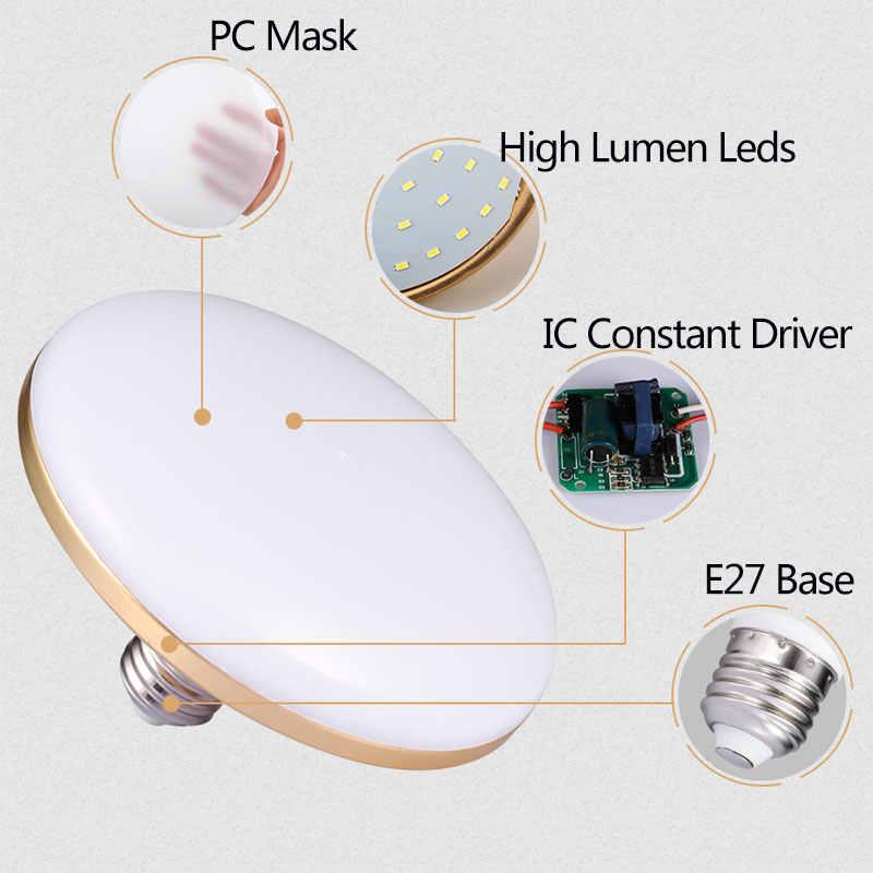 UFO E27 Led Bulb Light Lamp 220V 12W15W 20W 30W 40W 50W 60W Ampoule Bombilla Energy Spotlight Lampada Cold White Home Lighting