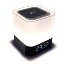 Musquée 28 Mini Haut-Parleur 3D Stéréo Musique Led Bluetooth Haut-Parleur Horloge D'alarme TF AUX 4000 MAH batterie Pour Smartphone ordinateur