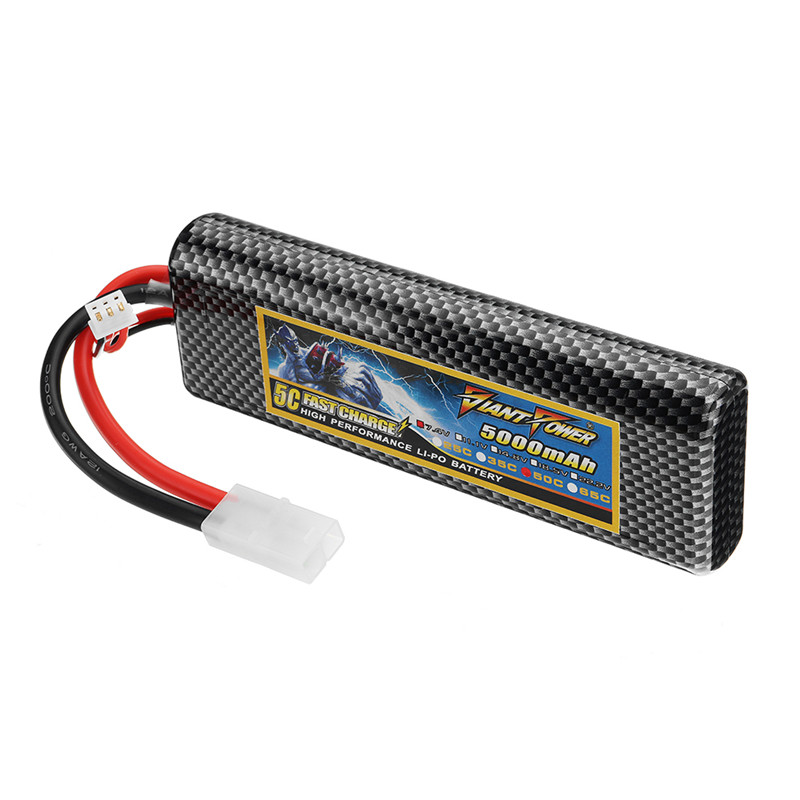 GIANT POWER 7.4V 5000mAh 50C 2S Rechargeable Lipo Battery With TAMIYA Plug For RC Model premiun pp material black blue red green grey 30 40 60 page b4 file folder document filing bag school office supplies stationery