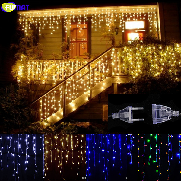 Christmas Lights Outdoor Decoration Droop 0.4-0.6m Led Curtain Icicle String Lights Garden Party Wedding Fairy Light 5M