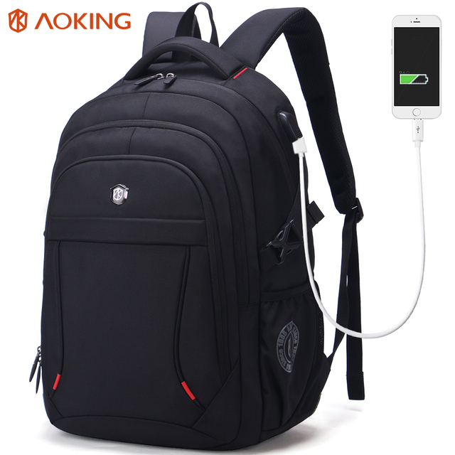97c6056cb6 Aoking Brand Classic Business Men s Backpack Large Capacity Casual Students  Laptop Backpack Anti-theft Waterproof