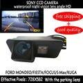 Asistencia de aparcamiento SONY CCD HD visión nocturna de la Cámara de Color de Reserva del Revés Del RearView Del Coche para Ford Mondeo Fiesta Focus S-Max KUGA