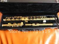 Студенты Childen Профессиональный 16 отверстий закрыты плюс ключ e Флейта позолоченный белый Медь Флейта Музыкальные инструменты с случае