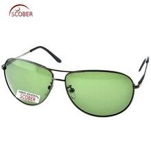 = CLARA VIDA= Custom Made NEARSIGHTED MINUS PRESCRIPTION  Large PILOT Black Wave Temple Designers Polarized sunglasses -1 to -6