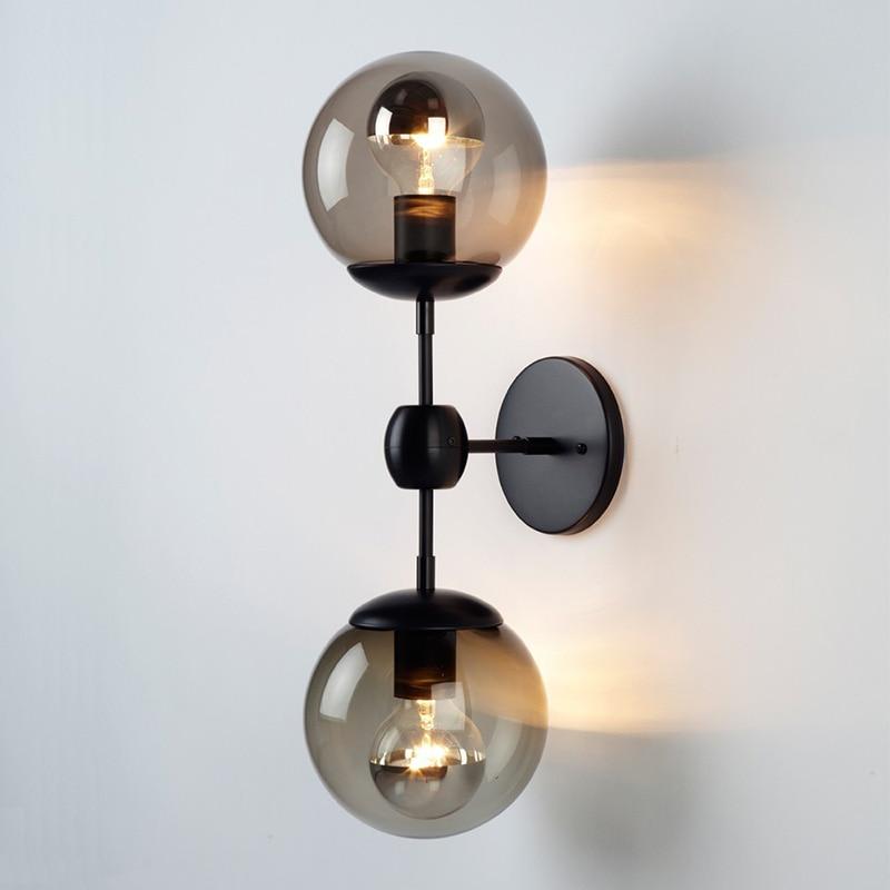 Minimalist Scandinavian American LED retro iron wall lamp personality Beanstalk DNA restaurant wall LAMP стоимость