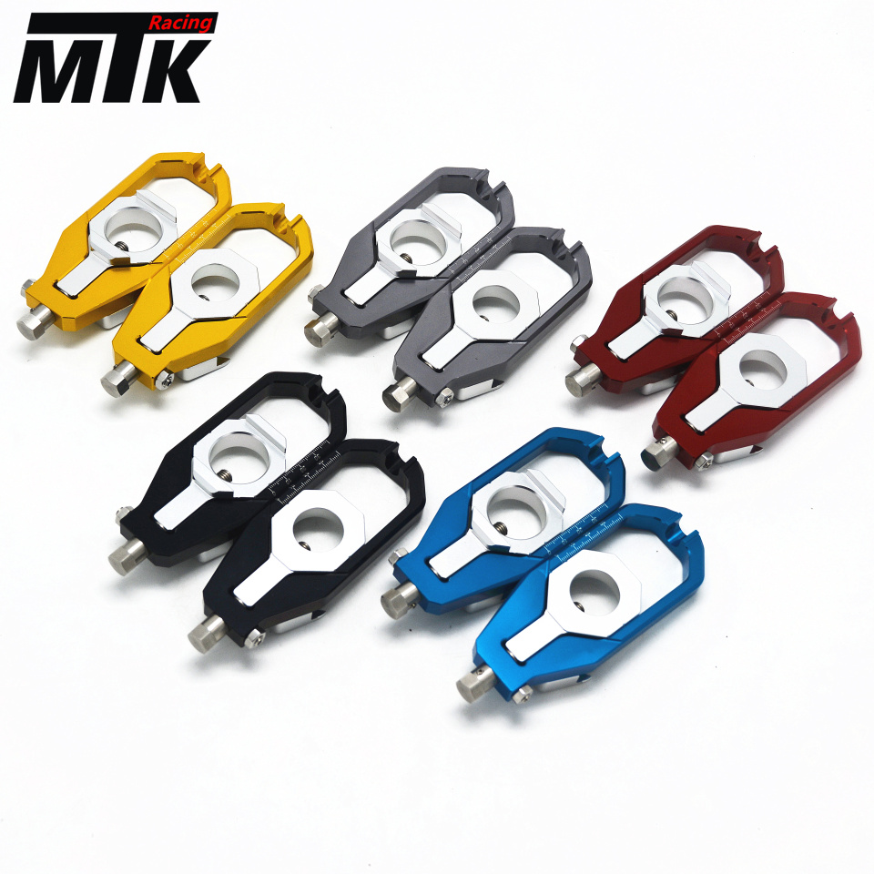 MTKRACING Accessories Rear Axle Spindle Chain Adjuster Blocks chain adjuster tensioners For YAMAHA Tmax 530 2012-2015 2017