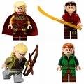 4 unids El Hobbit Super Heroes Haldir/Tauriel/Minas de Moria Señor/Bosque Negro Elf Cheif Señor de los Anillos de Bloques de Construcción de Juguetes Para Los Niños