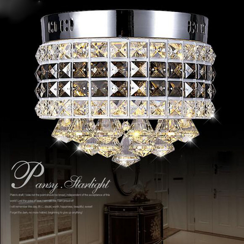 Modern Circular Crystal LED Ceiling Lamp Luxury LED Chip Lights Fixture for Sitting Room Corridor Balcony Restaurants Lamp vemma acrylic minimalist modern led ceiling lamps kitchen bathroom bedroom balcony corridor lamp lighting study