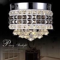 Moderne Circulaire Cristal LED Plafond Lampe De Luxe LED Puce Lumières Mobilier pour Salon Couloir Balcon Restaurants Lampe