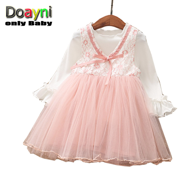 1d8526419aae Doayni Baby Girls Elegant Pleated Dress O neck Velvet with Space ...