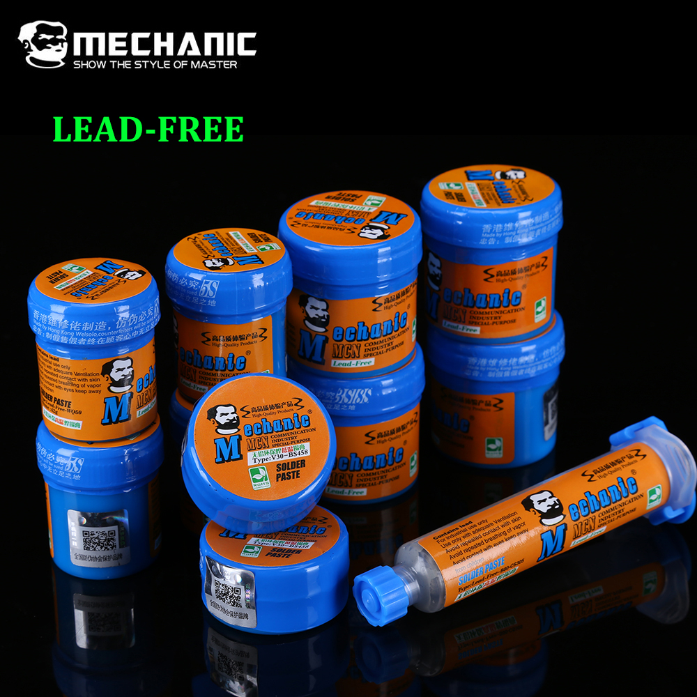 MECHANIC LEAD-FREE BGA Solder Flux Paste Soldering Tin Cream Low High Temperature Welding Paste Flux For BGA Soldering Station