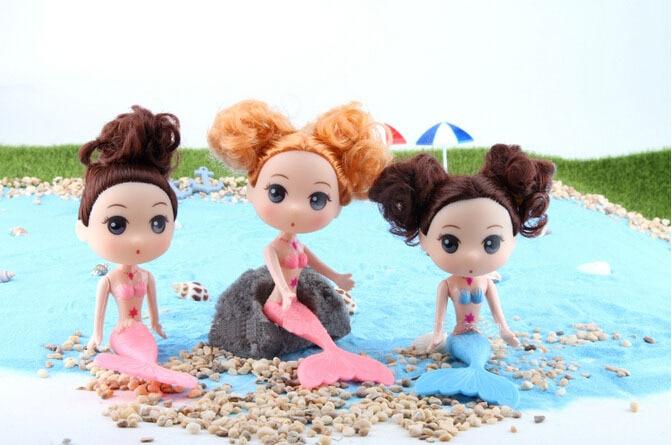 Us 659 40 Offgeburtstag Weihnachten Geschenk 16 Cm Kleine Meerjungfrau Bunte Schwanz Puppen Für Mädchen Spielzeug Top Moxie Mädchen Meerjungfrau
