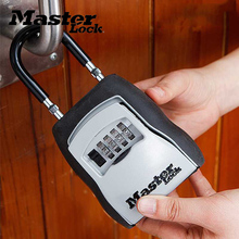 Master Lock Key Safe Box Outdoor Keys Storage Box Padlock Password Lock Alloy Material Keys Hook Security Organizer Boxes 5400D