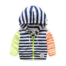 Bébé garçons vêtements printemps mode casual enfants garçon vestes coton fermeture éclair à capuchon enfants garçons manteaux à l'usure enfants clothing