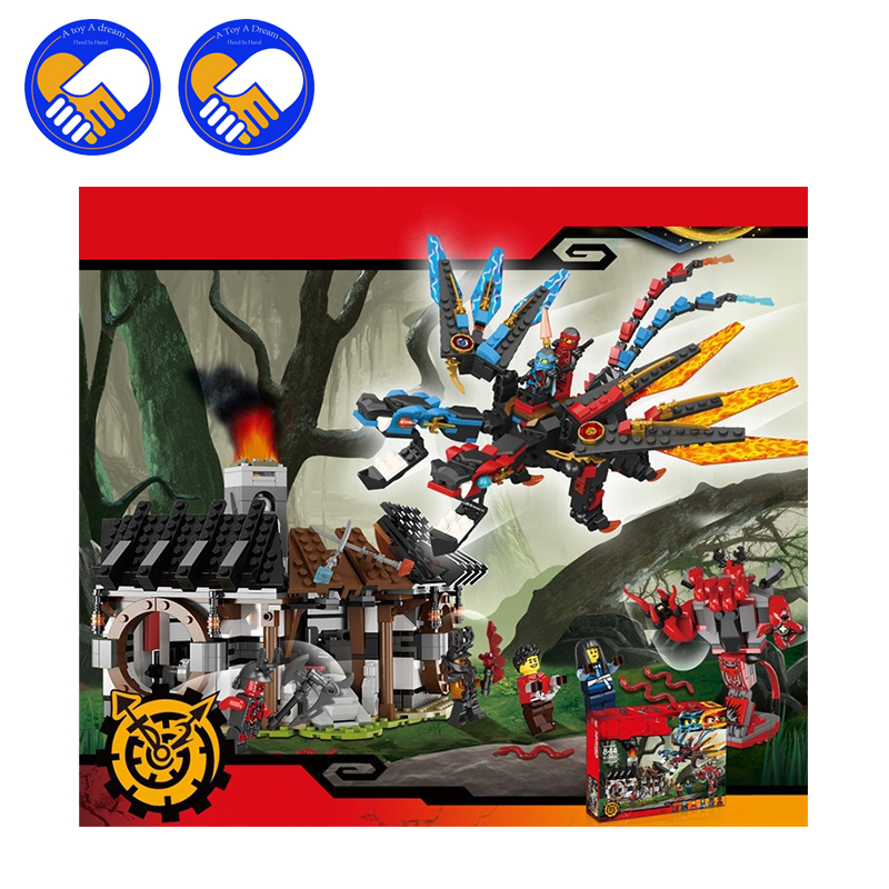 (A Toy A Dream)Ninja Dragon's Forge Building Bricks Toys Boys DIY Education Develop Gift Compatible With 70627 2017 new dragon s forge 70627 building kit compatible with 06041 ninja bricks models building blocks toys for childrens gifts