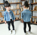 [Bosudhsou.] #B-6 Spring Autumn Baby Girls Clothing Children's Denim Jackets Rabbit Coat Kids Cute Outerwear Full Sleeve Clothes
