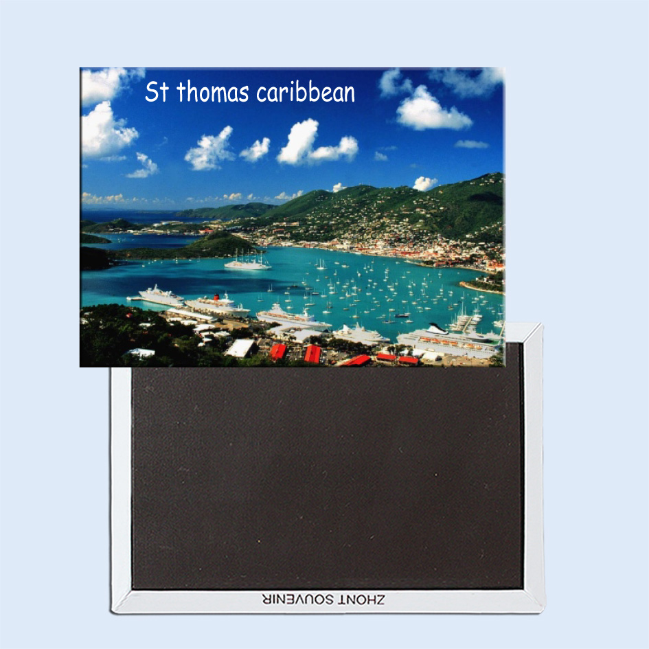 Tourist Souvenirs Fridge Magnetic Exquisite Gift 24604 st thomas caribbean in Fridge Magnets from Home Garden