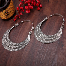 necklaces & pendants Bohemia Tassels Miao necklace Retro Yunnan Ethnic exaggeration Three layers silver manual Collar