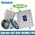 Lintratek усилитель сотовой связи трехдиапазонный 2 г/3g/4G мобильный усилитель сигнала GSM 900 DCS/LTE 1800 WCDMA UMTS 2100 мГц телефона репитер антенный усилите...