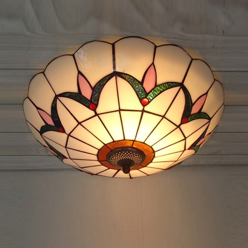 ᐃEuropea Tiffany dormitorio techo Lámparas vintage sala de estudio ...