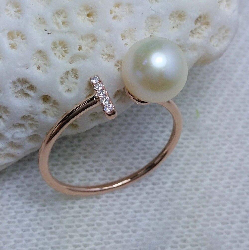 Gvbori 14k Gold 8pcs Diamond 89mm Southsea Golden Pearl Necklace Pendant  For Women Fine