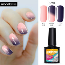 Modelones 10ml UV Soak Off Temperature Change Nail Gel Polish Hot Sale Nail Art Salon Varnish LED Long Lasting Gel