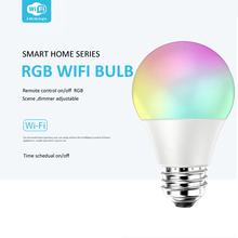 Smart Wifi RGB bulb  White Timing Function Dimmable LED Lamp 220V 110V Compatible with Amazon Alexa/Google Home Assistant